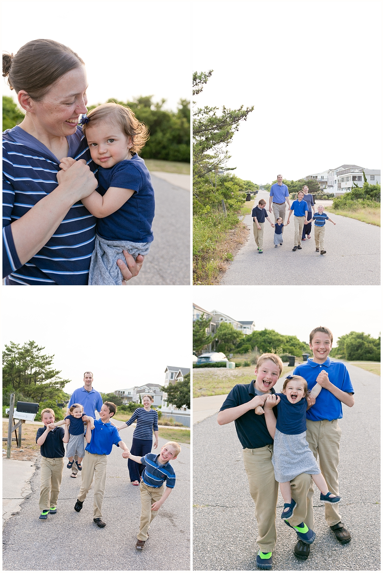 cute family photos in Duck, North Carolina