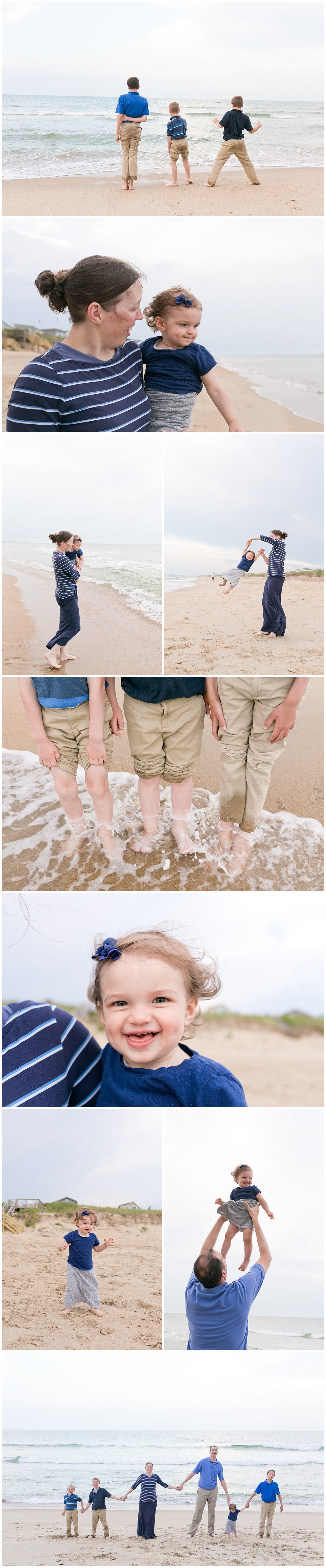candid family pictures on the beach - Ocean Springs photographer