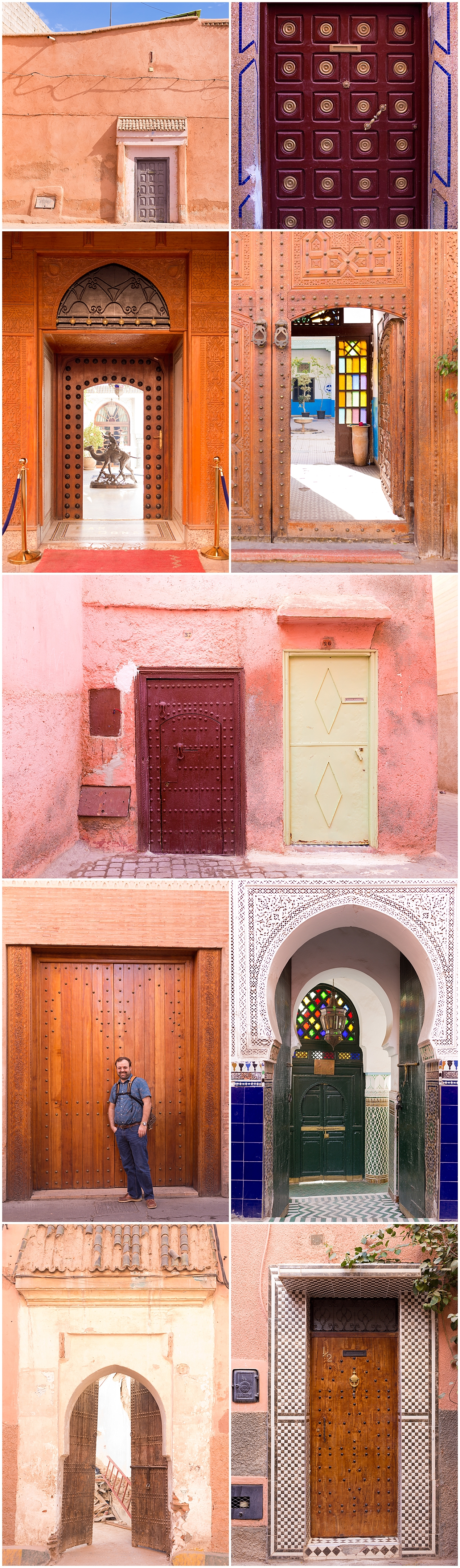 beautiful wooden doors in Marrakech, Morocco