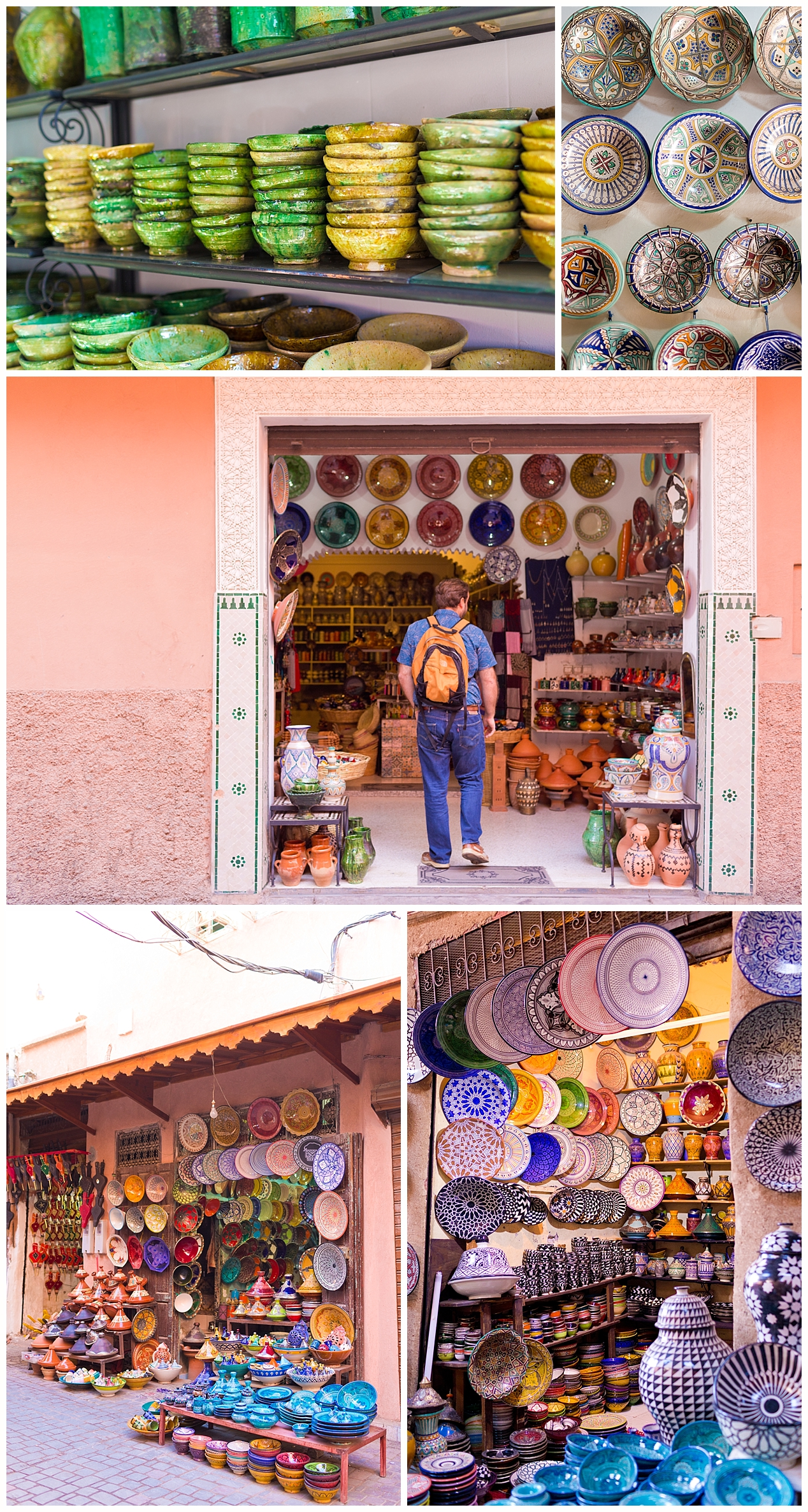 Marrakech souks - dishes and pottery
