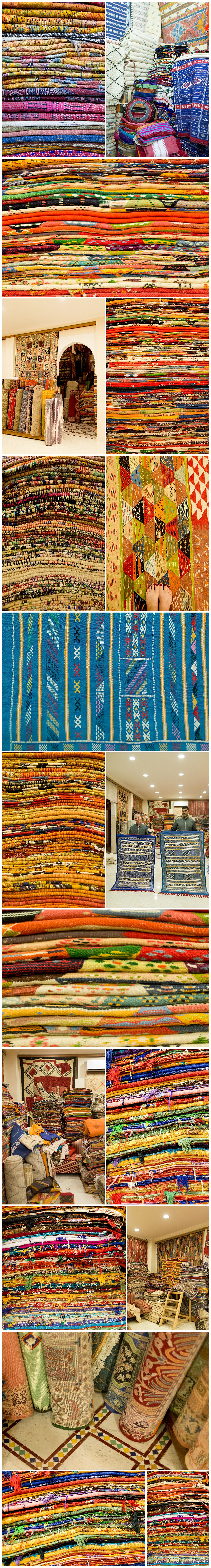 shopping for a rug in Marrakech, Morocco