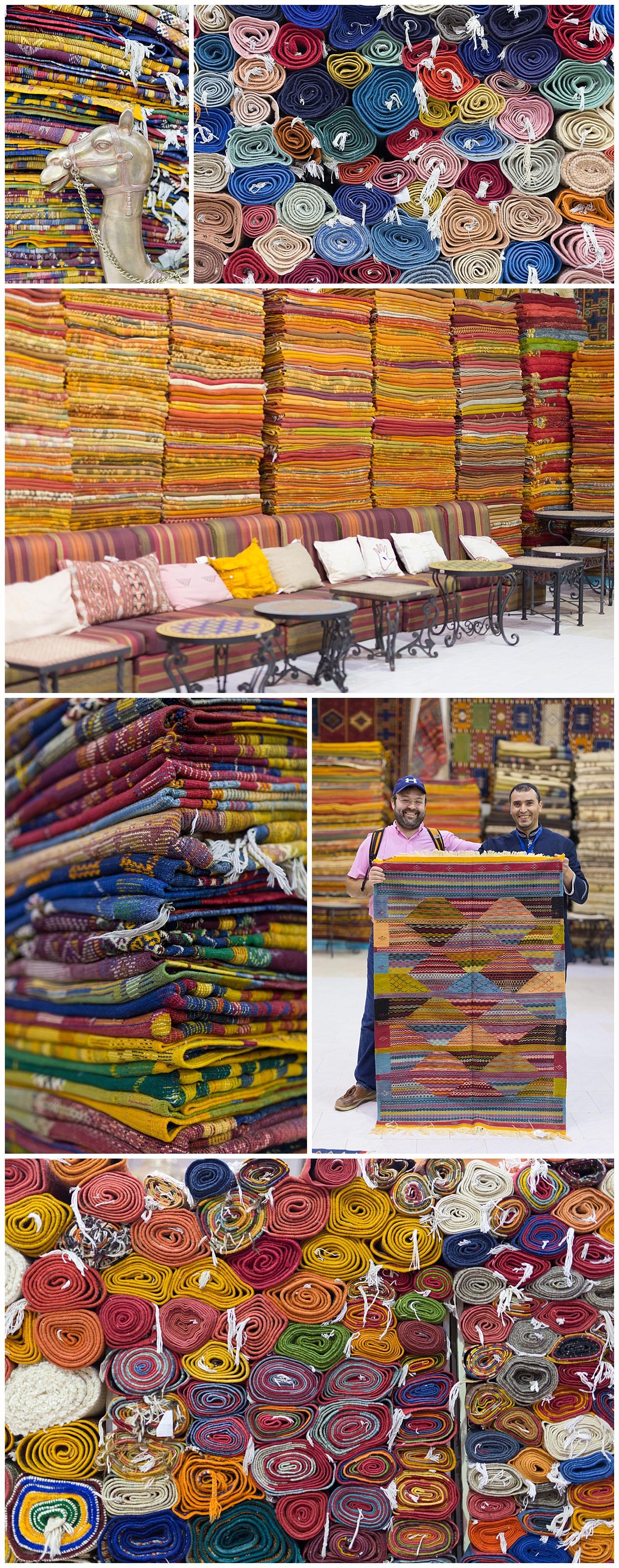 rug shopping in Marrakech, Morocco