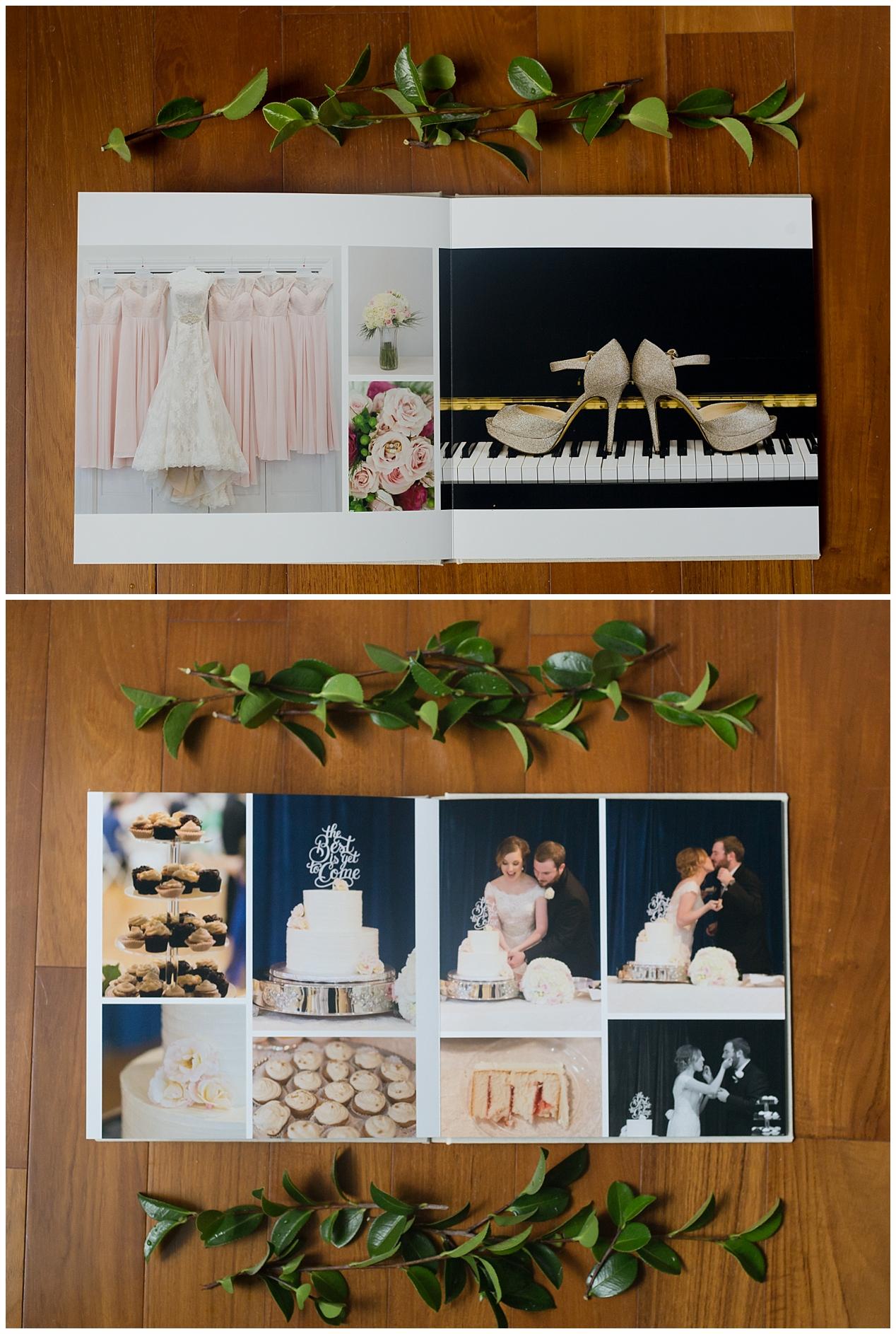 Ocean Springs, MS wedding photographer - details in layflat wedding album