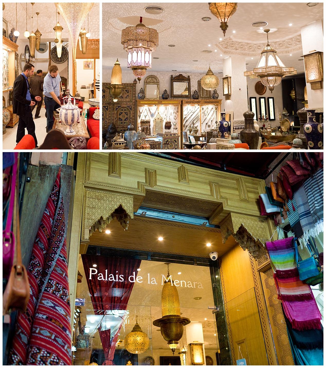 Palais de la Menara fancy shop in Marrakech medina