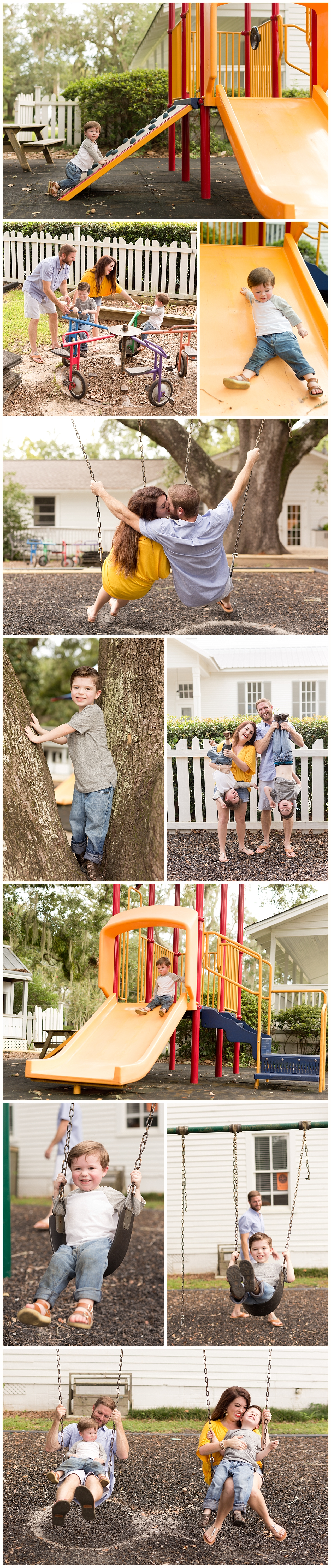 fun family pictures on playground - Ocean Springs family photos