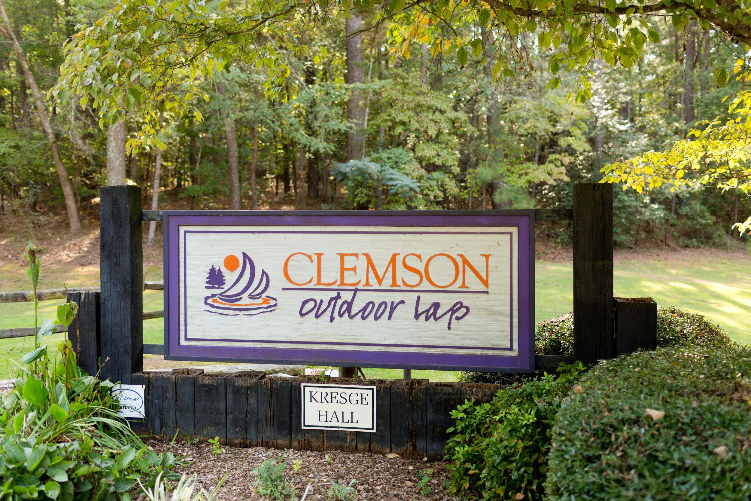 Clemson Outdoor Lab Sign