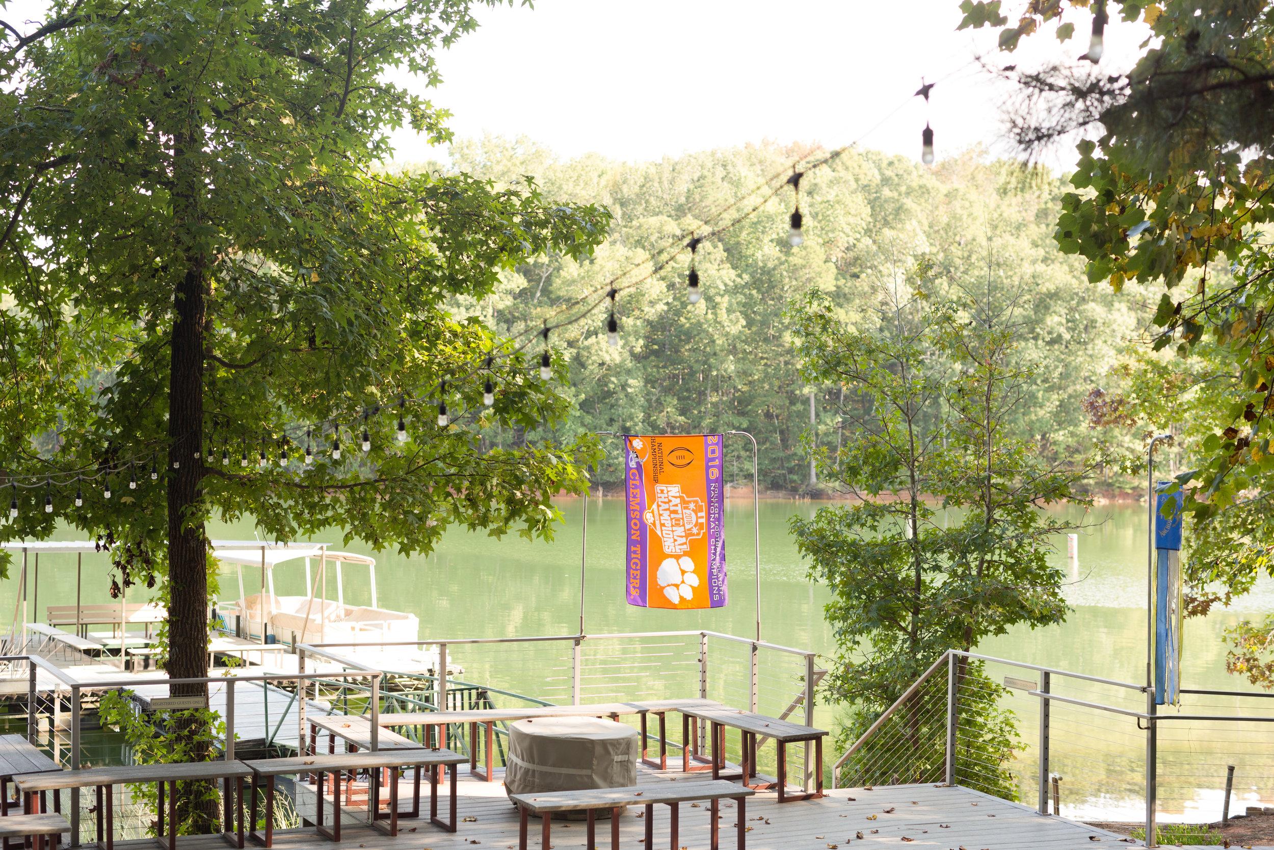 Clemson Outdoor Lab camp wedding