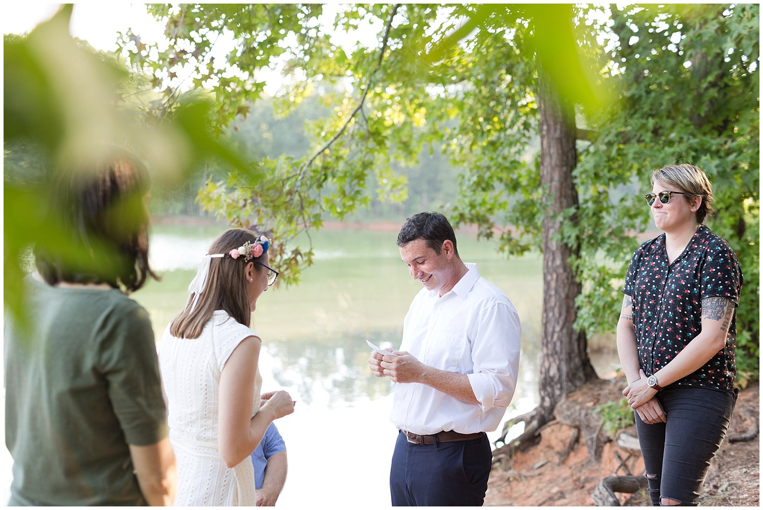 private vow ceremony outdoors - destination wedding photographer