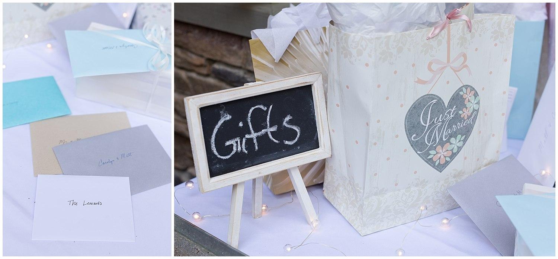 wedding gift table