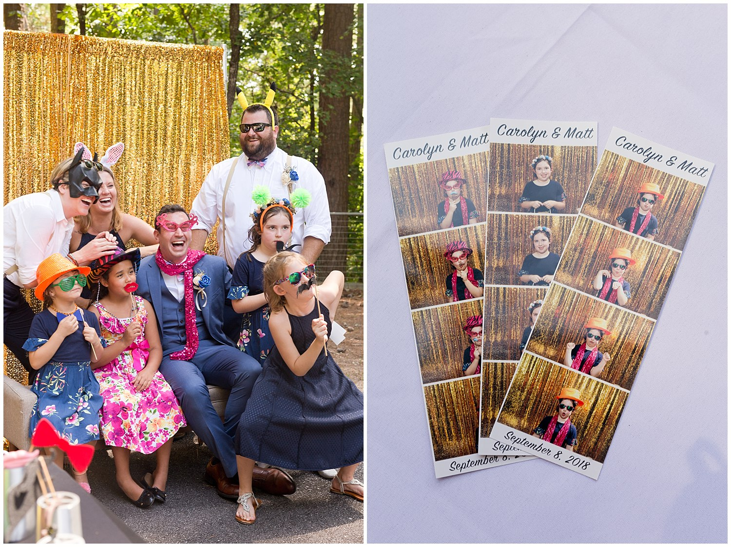 photo booth at outdoor wedding