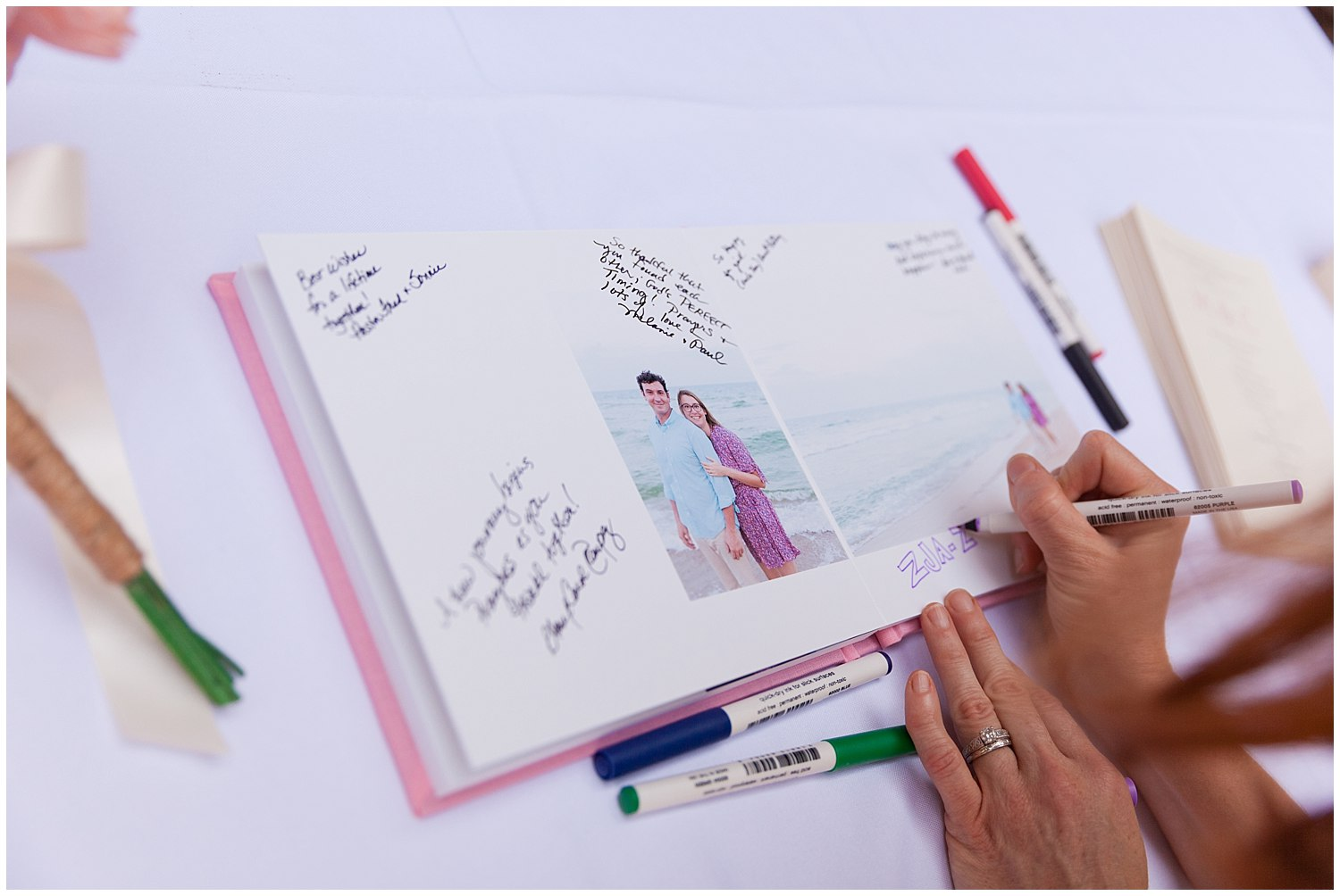 engagement album / wedding guestbook by Uninvented Colors Photography