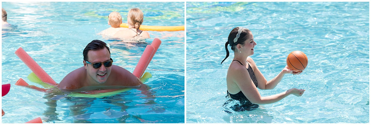 adults playing in swimming pool