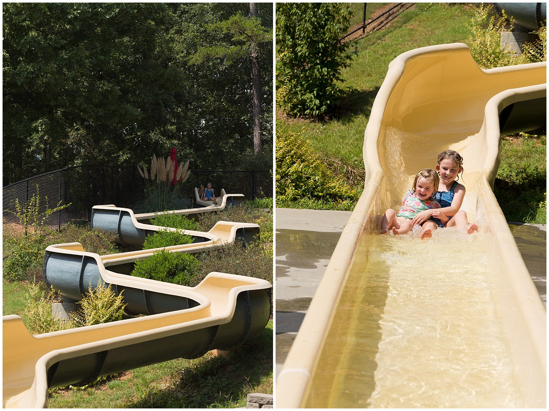 water slide at Clemson Outdoor Lab