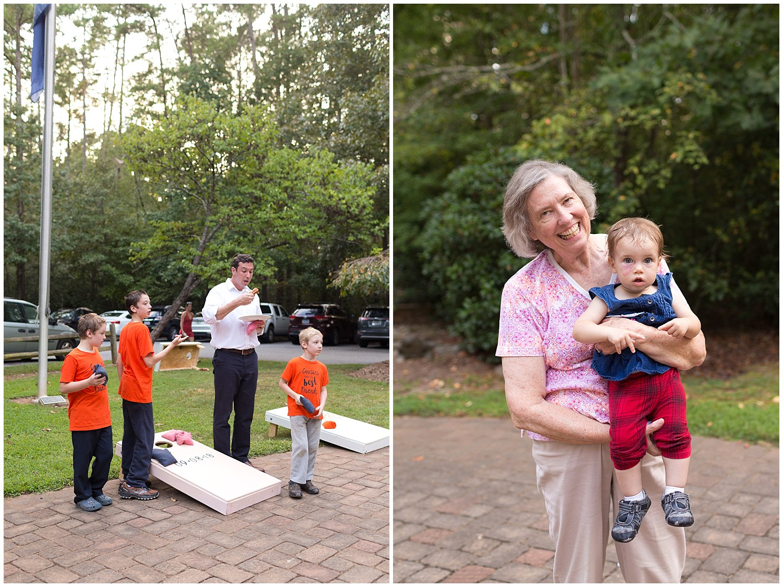 corn hole and family fun at camp wedding - destination wedding photographer