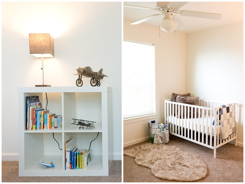 baby boy nursery photos - Biloxi newborn photographer
