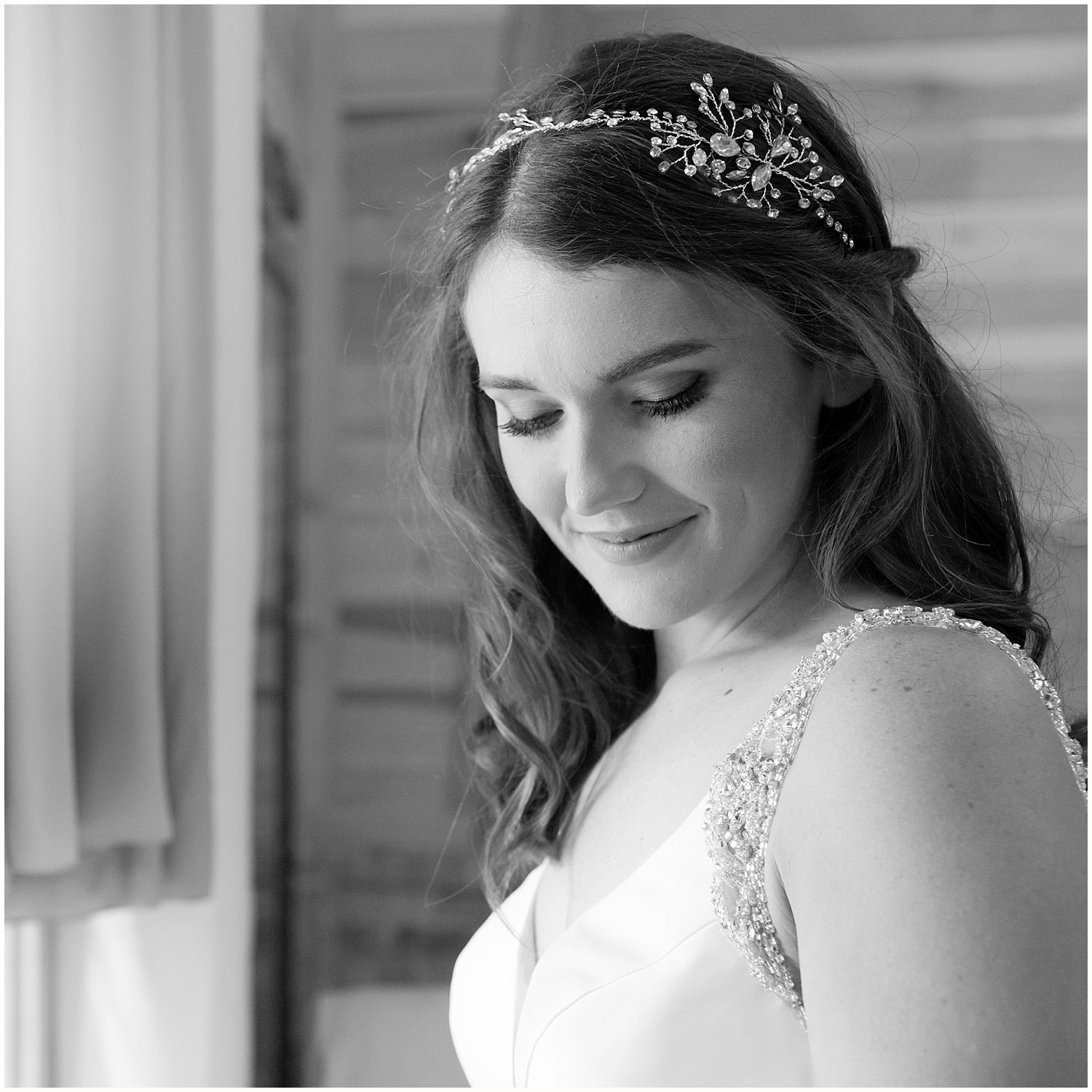 bridal portrait before wedding - Kiln, MS wedding photographer
