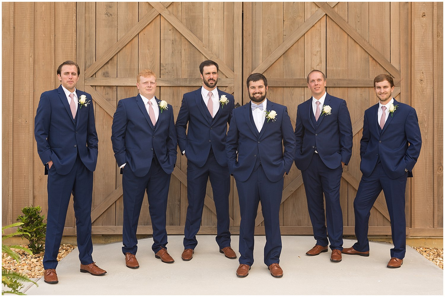 groomsmen photo at The Barn at Love Farms