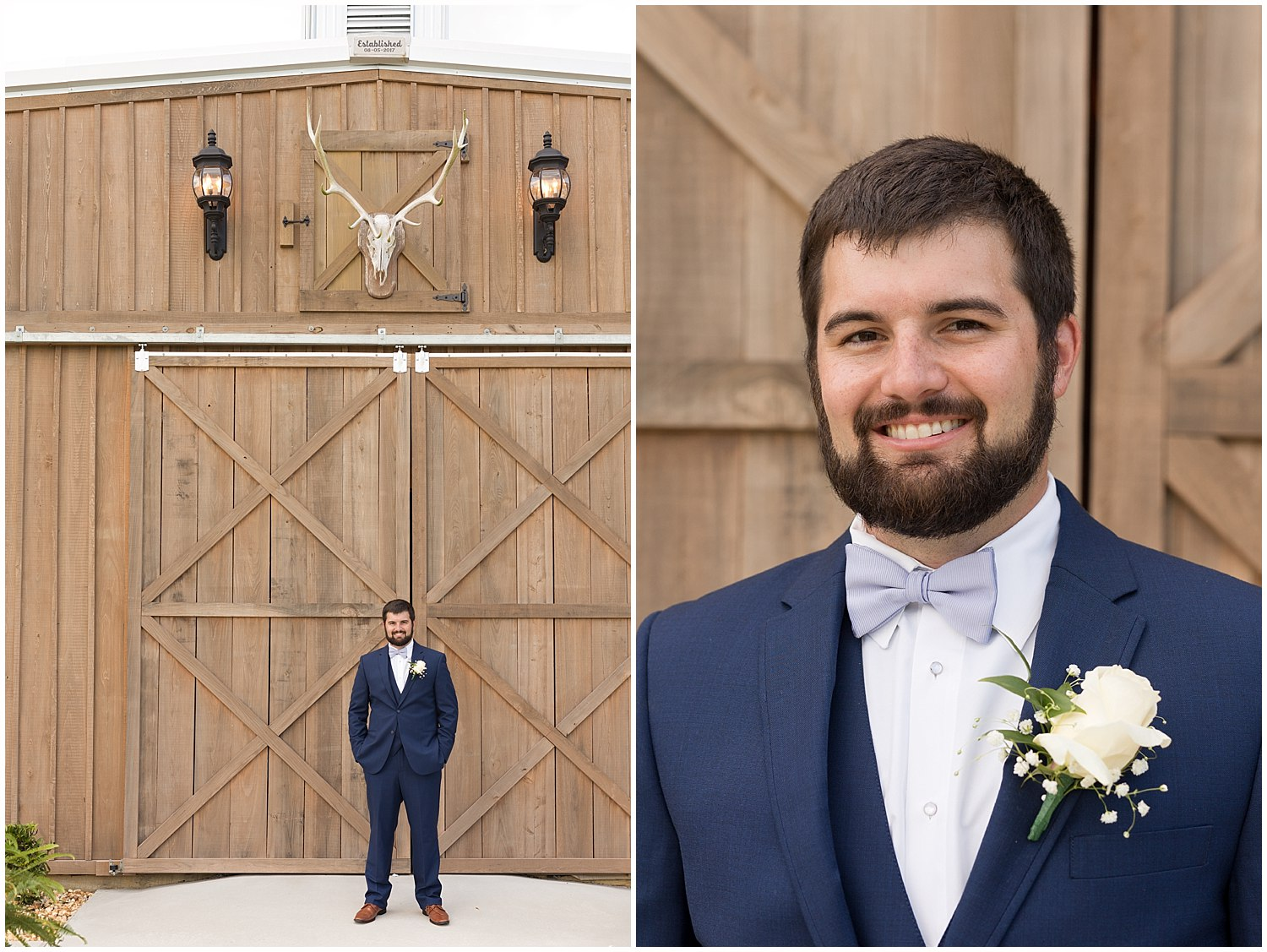 groom portraits at The Barn at Love Farms
