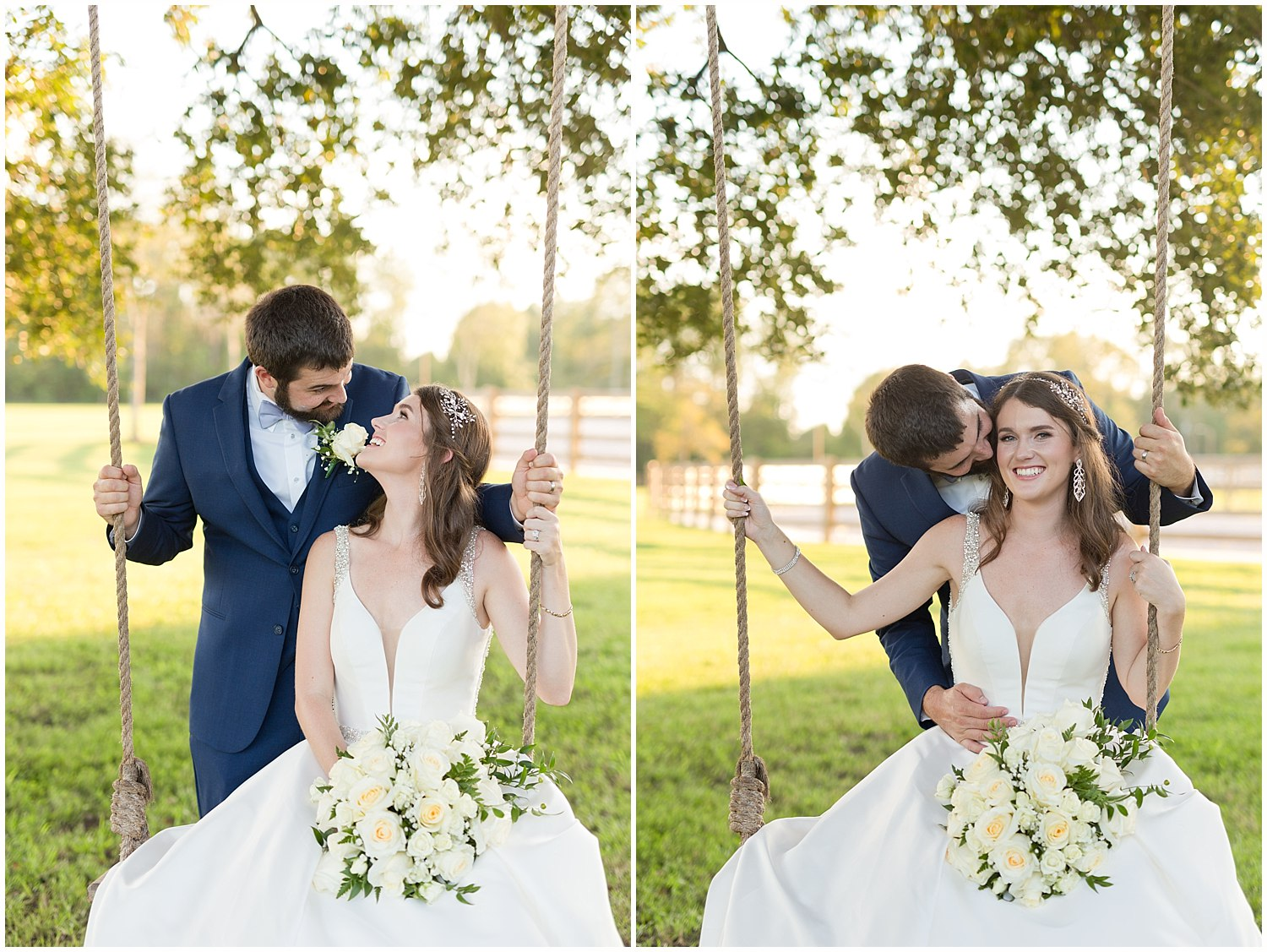 beautiful bride and groom portraits in Kiln, MS