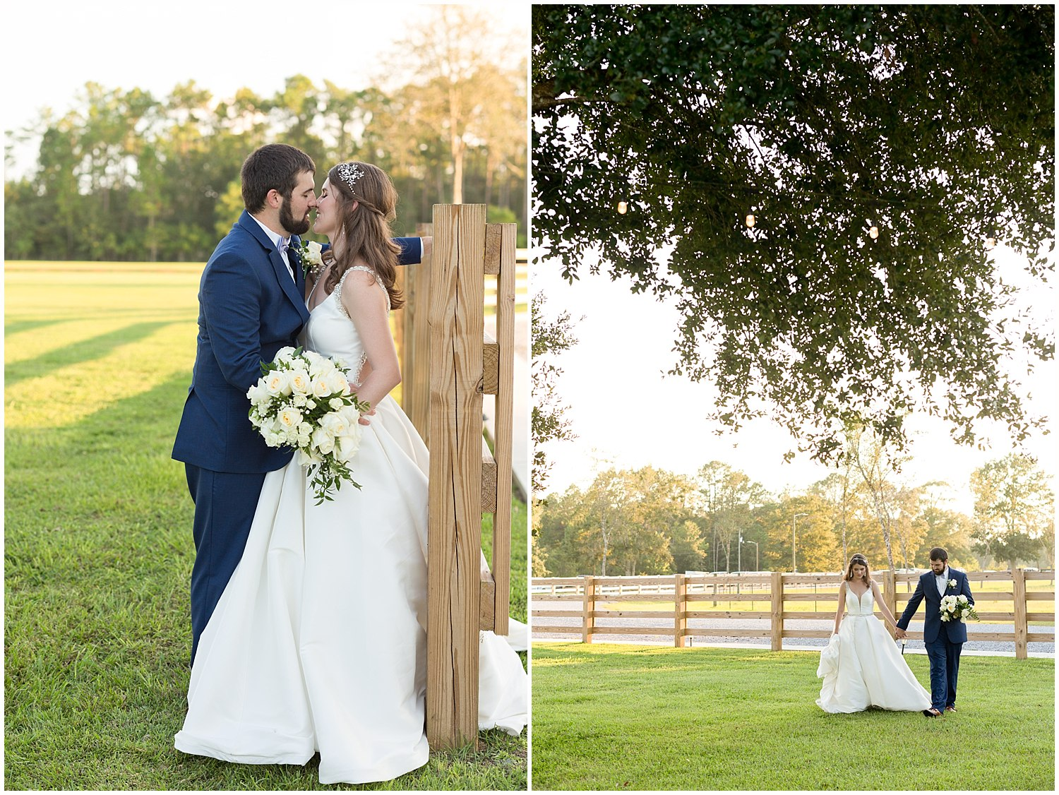 outdoor wedding photos in Kiln, MS