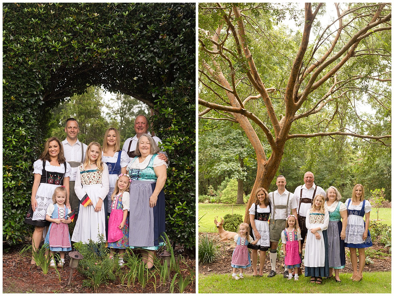 Ocean Springs photographer - extended family photos with German theme