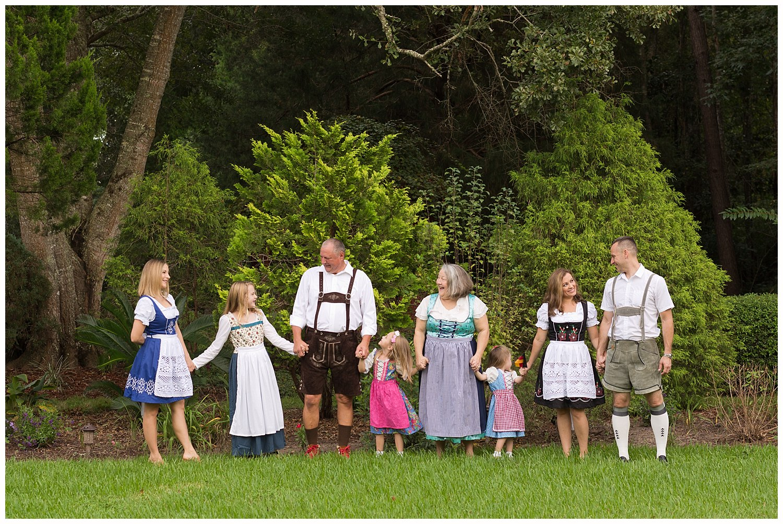 3 generations family portrait celebrating German heritage
