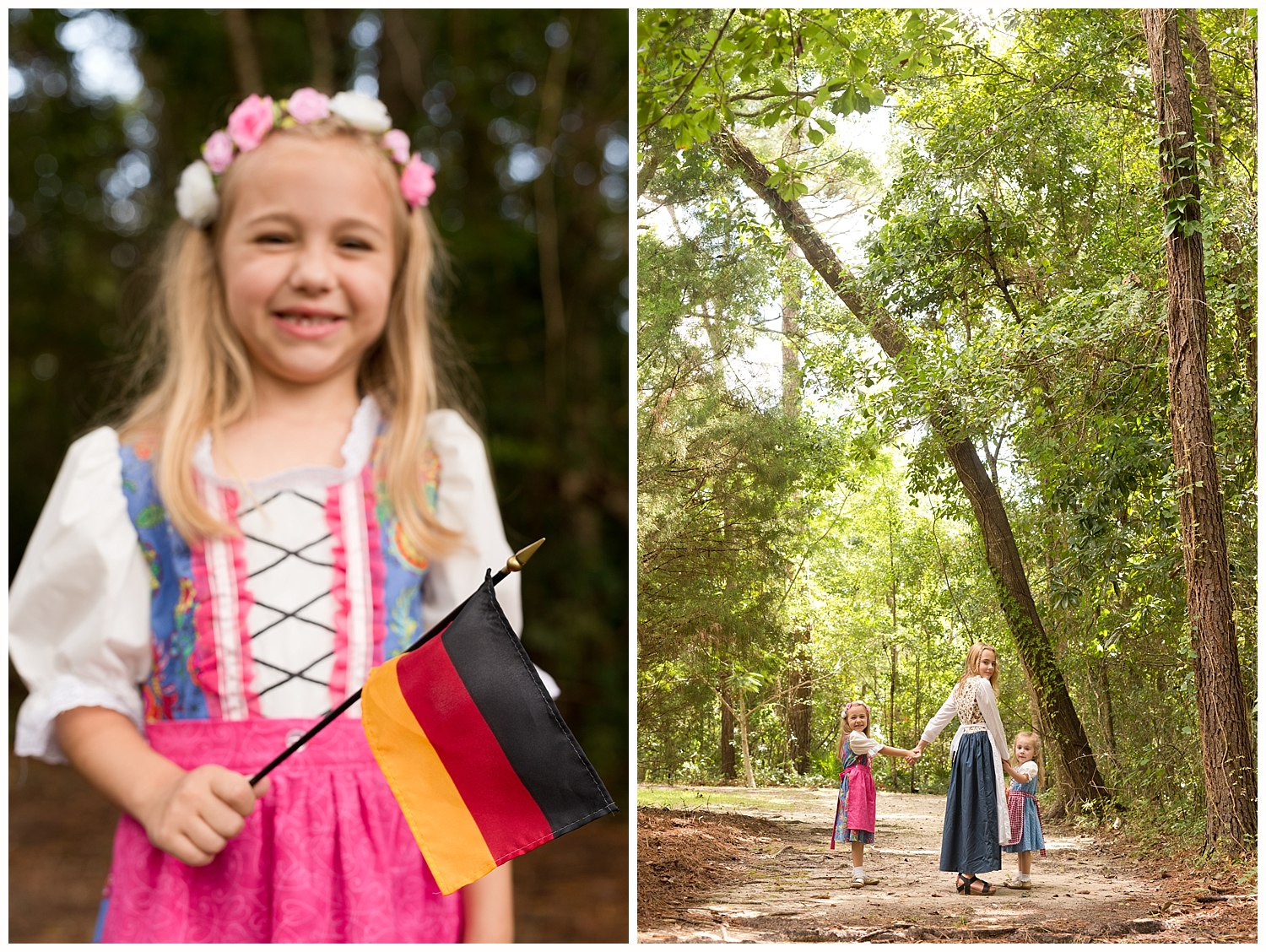 Ocean Springs family photographer - German theme family pictures