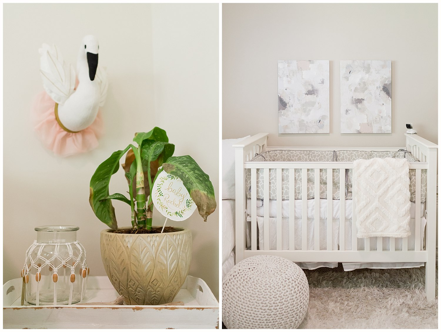 lifestyle photography in Ocean Springs, MS - baby girl nursery