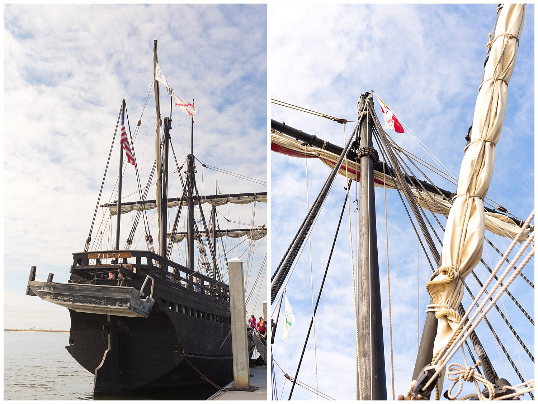 Nina and Pinta replica ships in Biloxi