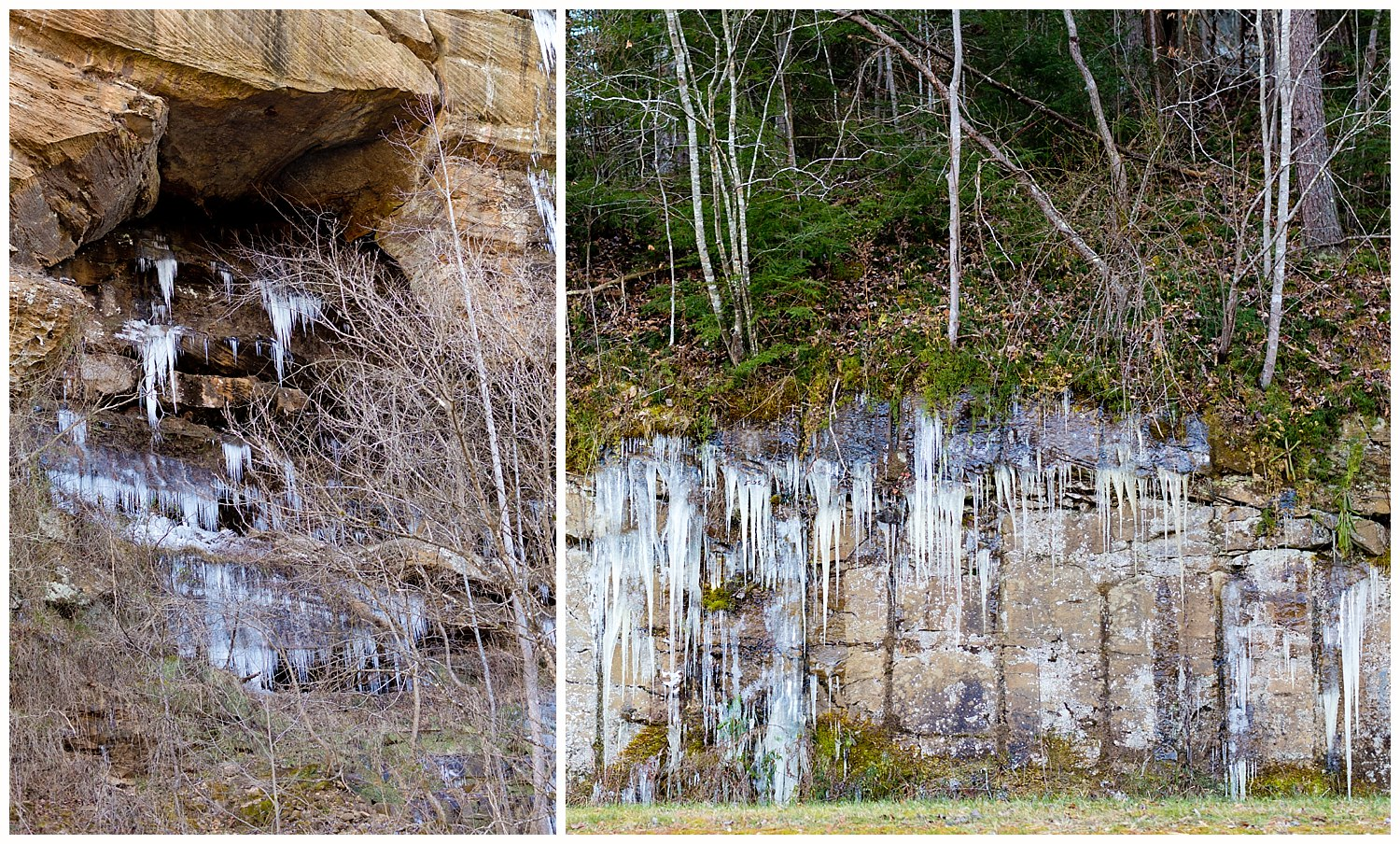 icicles in Laurel Curves in Elliott County, KY