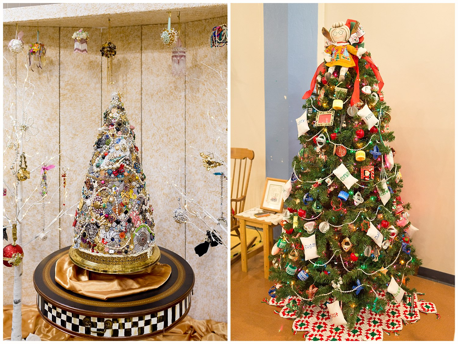 Christmas trees at Highlands Museum in Ashland, KY