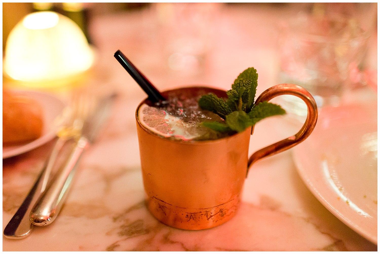 cocktail in Café de l'Homme restaurant in Paris