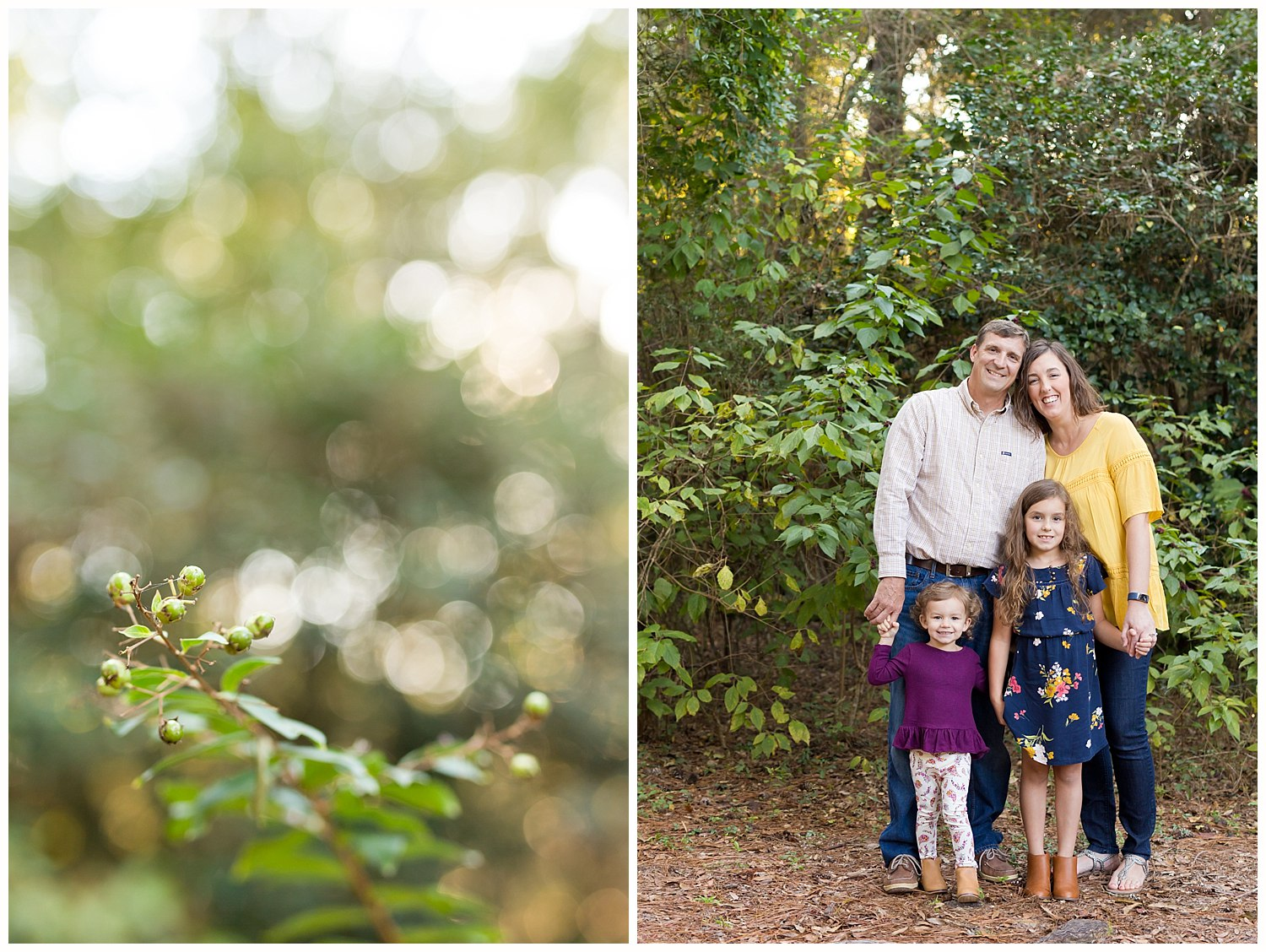family pictures in the woods - Ocean Springs, MS photographer