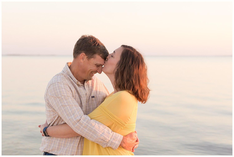 sweet couple photo on the beach - Ocean Springs photographer