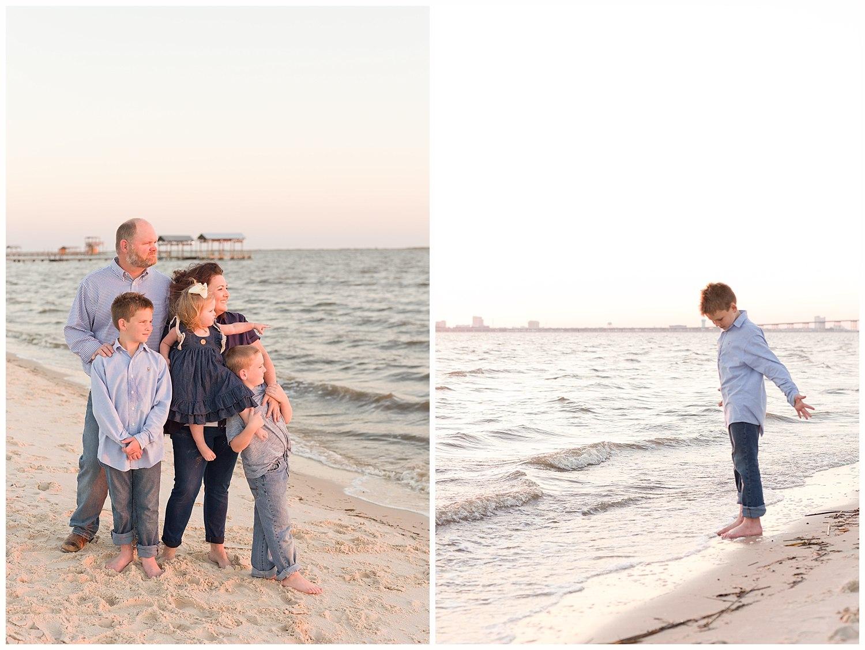 family photos at Ocean Springs East Beach