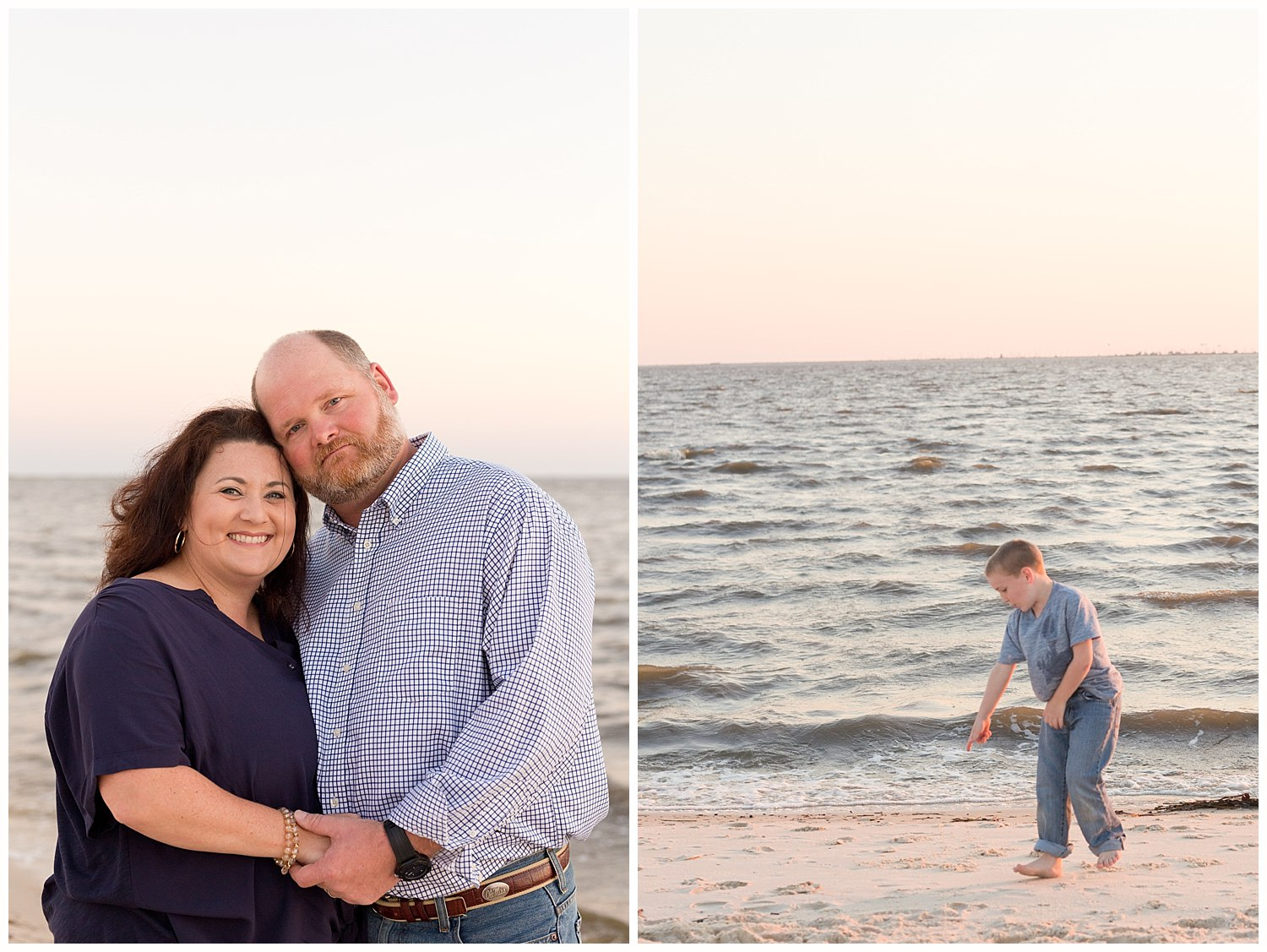 family pictures on the beach in Ocean Springs
