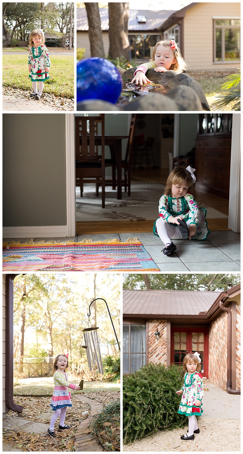 toddler girl in Matilda Jane dresses