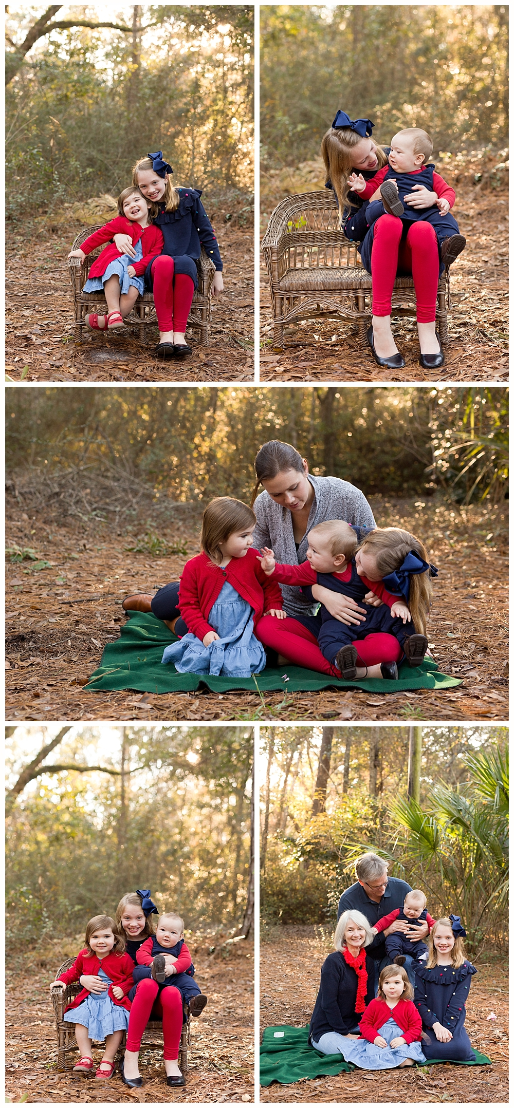 Ocean Springs child and family photographer - outdoor family pictures at 12 Oaks