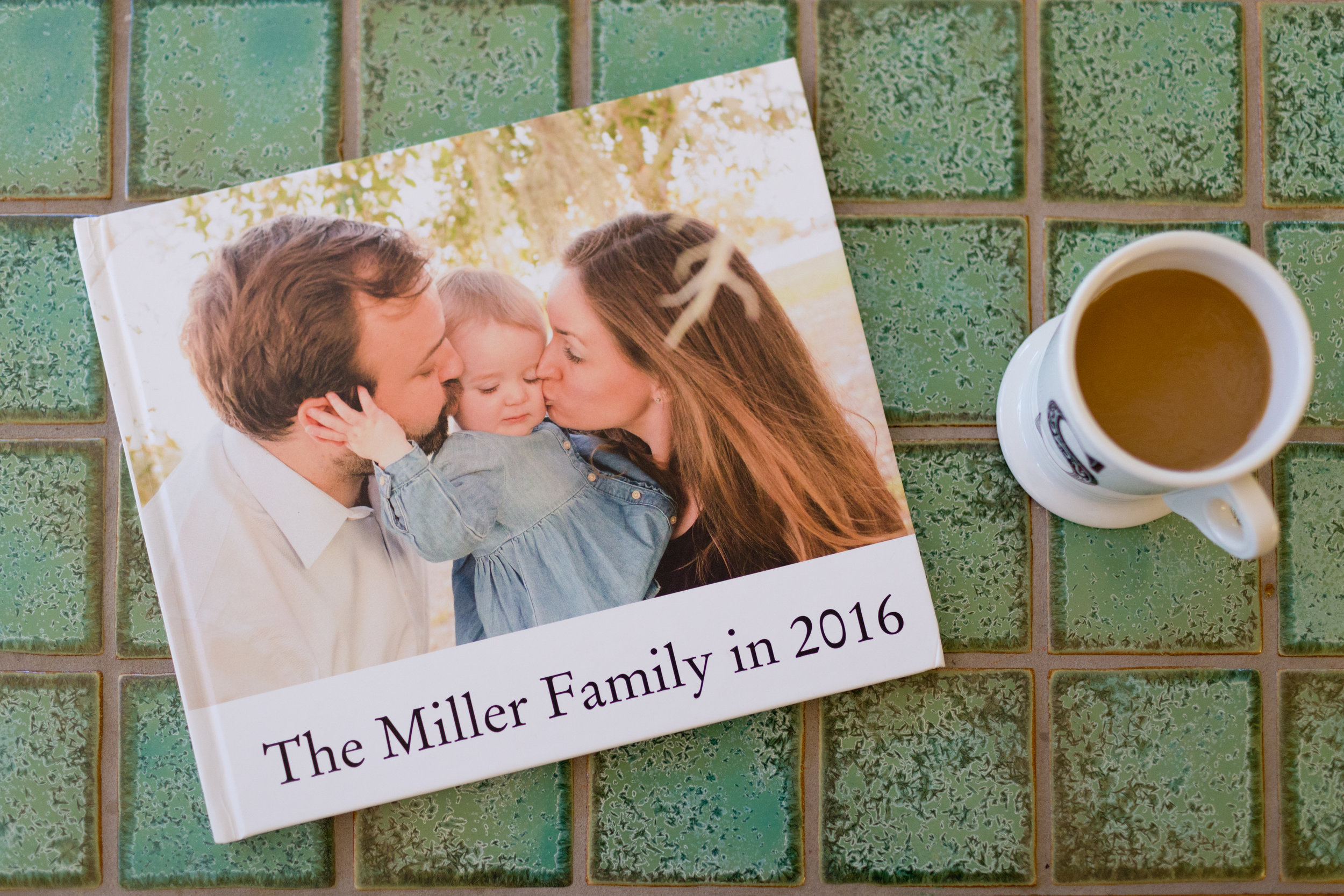 best family photo book - Blurb photo book on coffee table