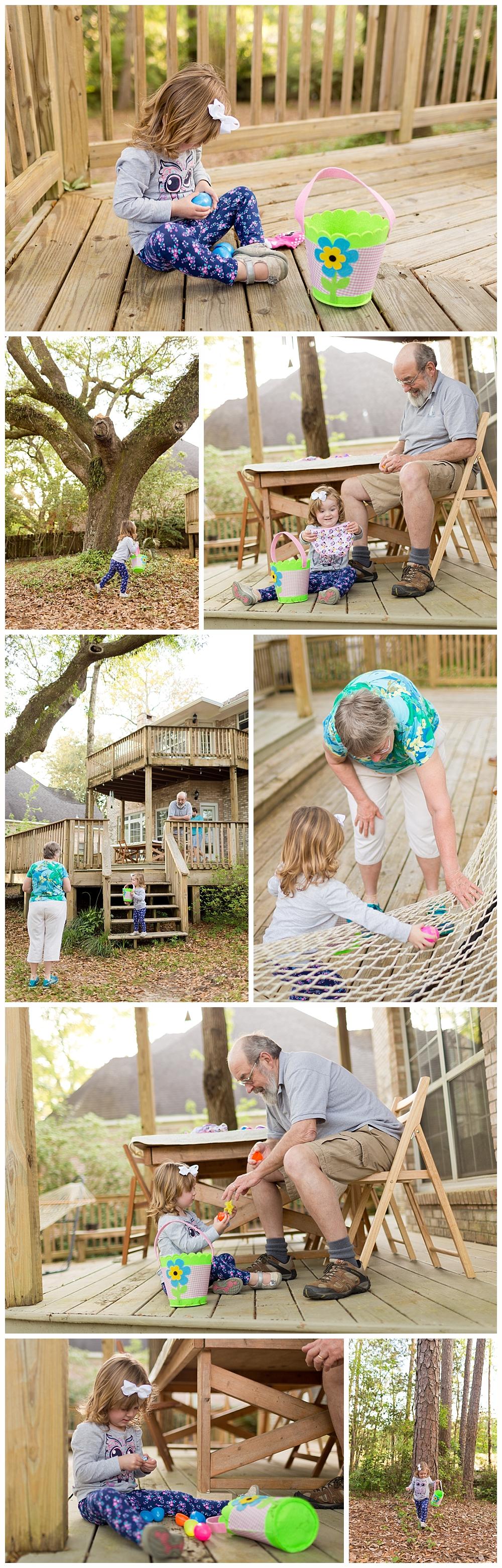 backyard Easter Egg Hunt in Ocean Springs, Mississippi
