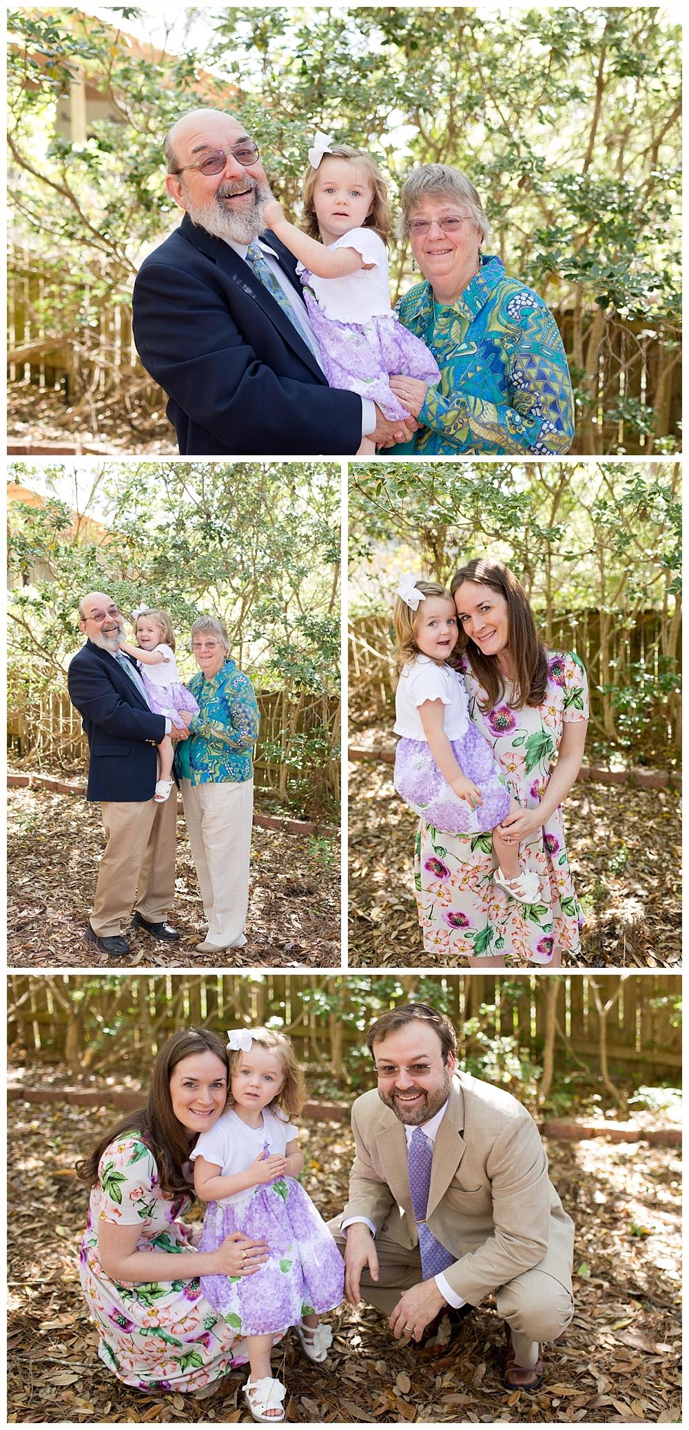family photos before church on Easter Sunday - Ocean Springs, Mississippi