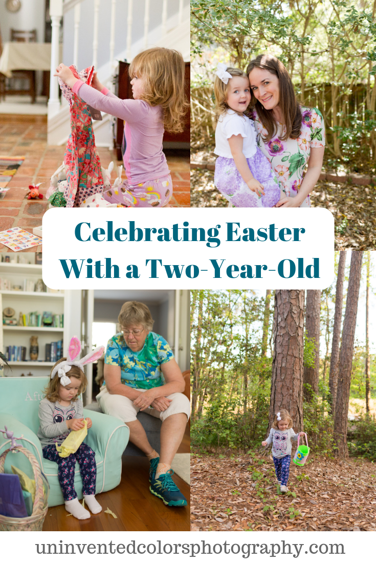 Celebrating Easter with a two-year-old