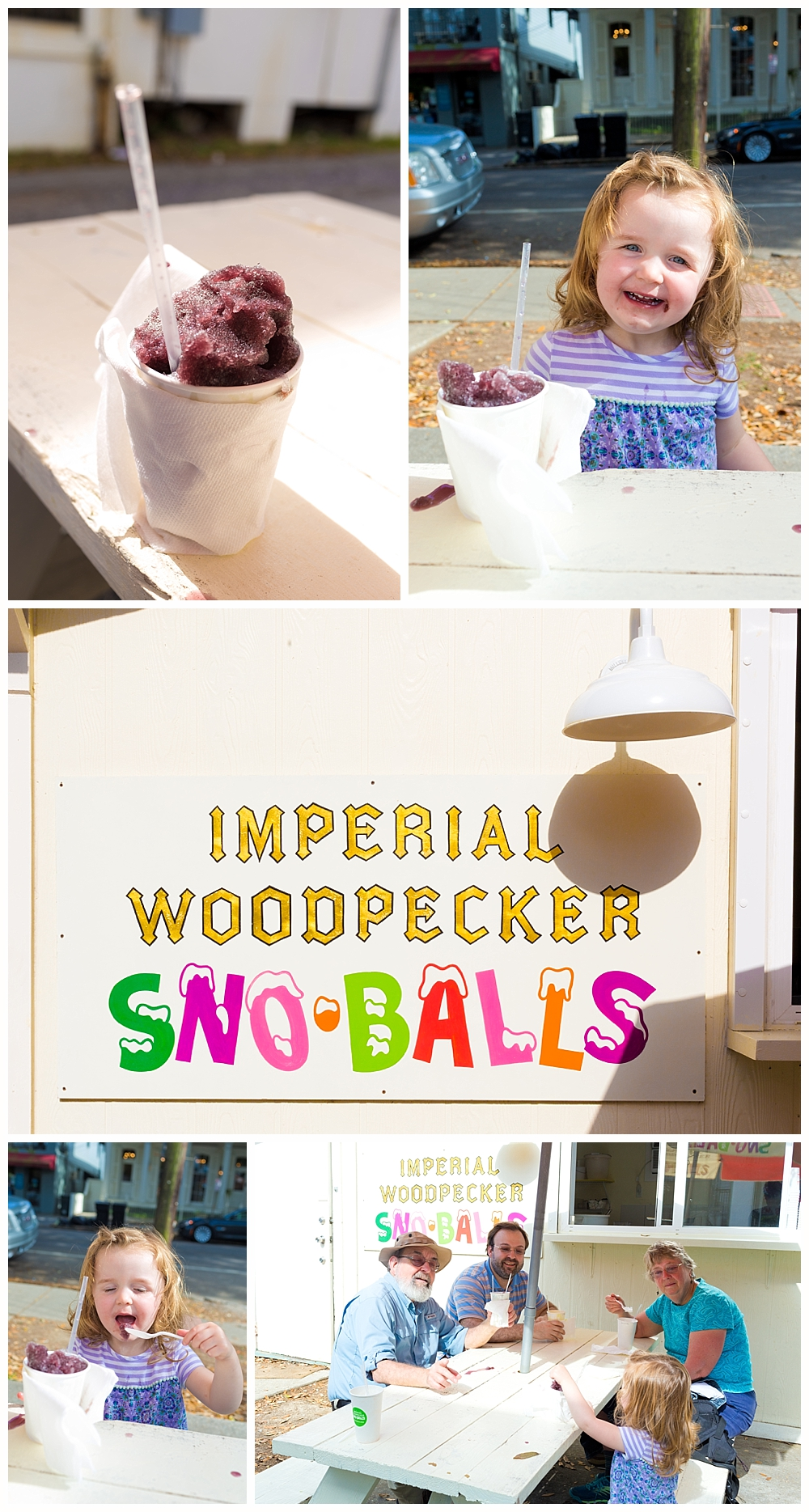 Imperial Woodpecker Sno-balls in New Orleans