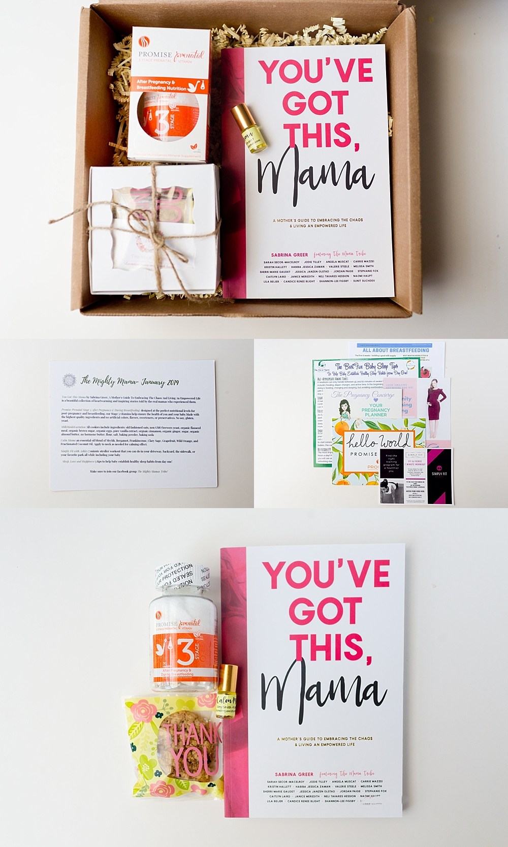 postpartum subscription box contents - gifts for new moms - The Mighty Mama Box