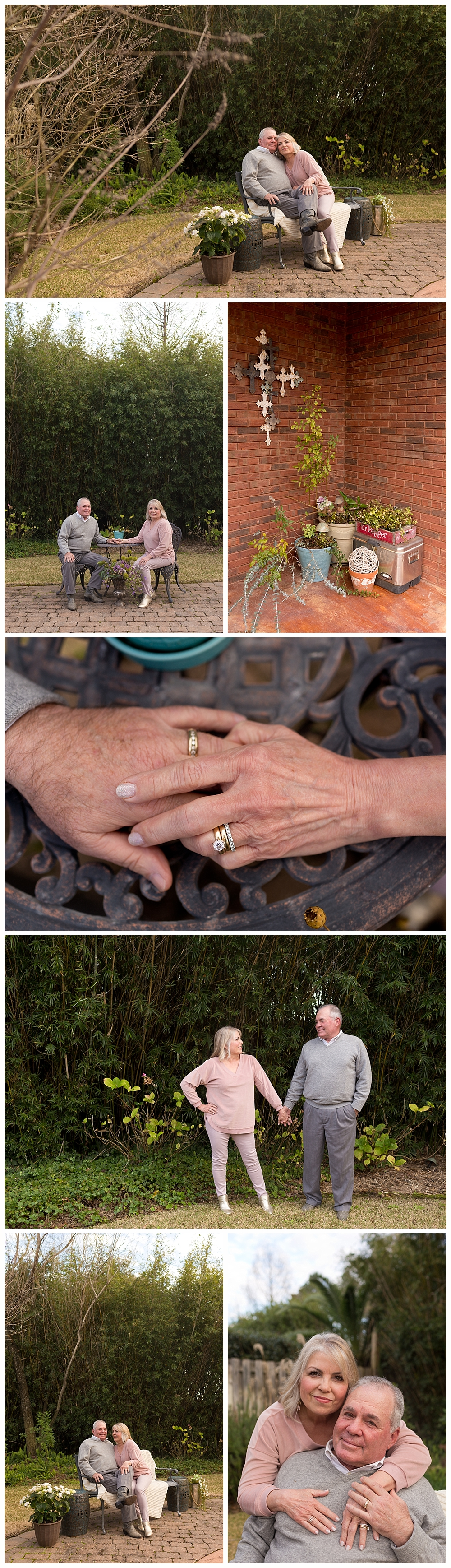 mature couple's portrait session in back yard - Ocean Springs family photographer