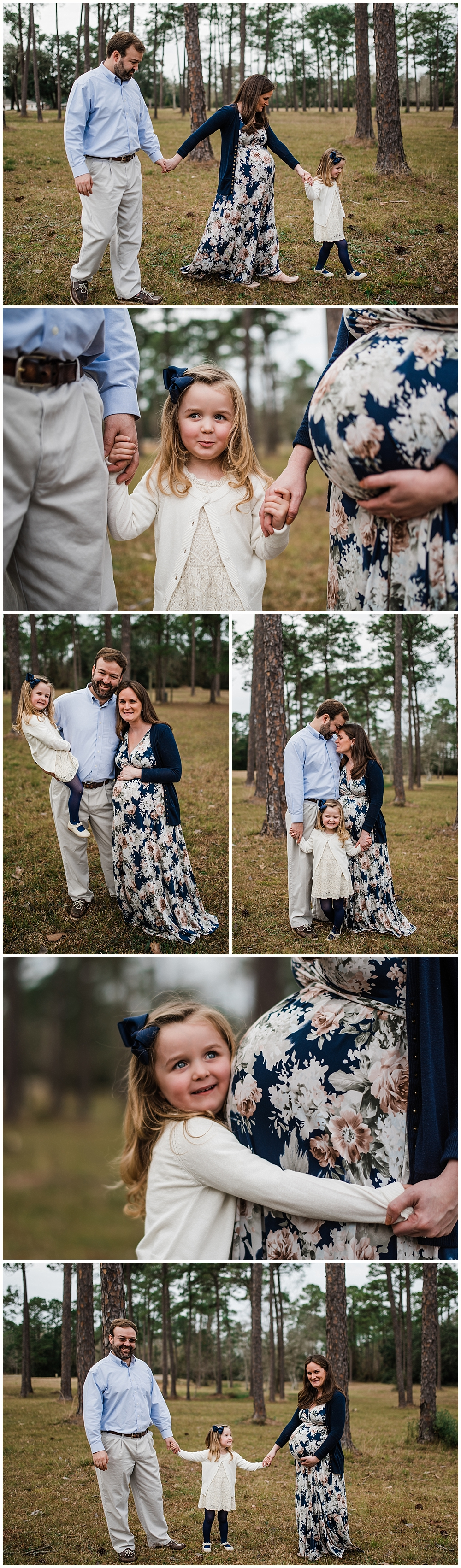 outdoor maternity family photos in Biloxi, Mississippi