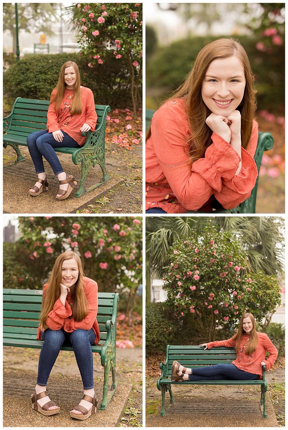 Ocean Springs senior portraits at Marshall Park