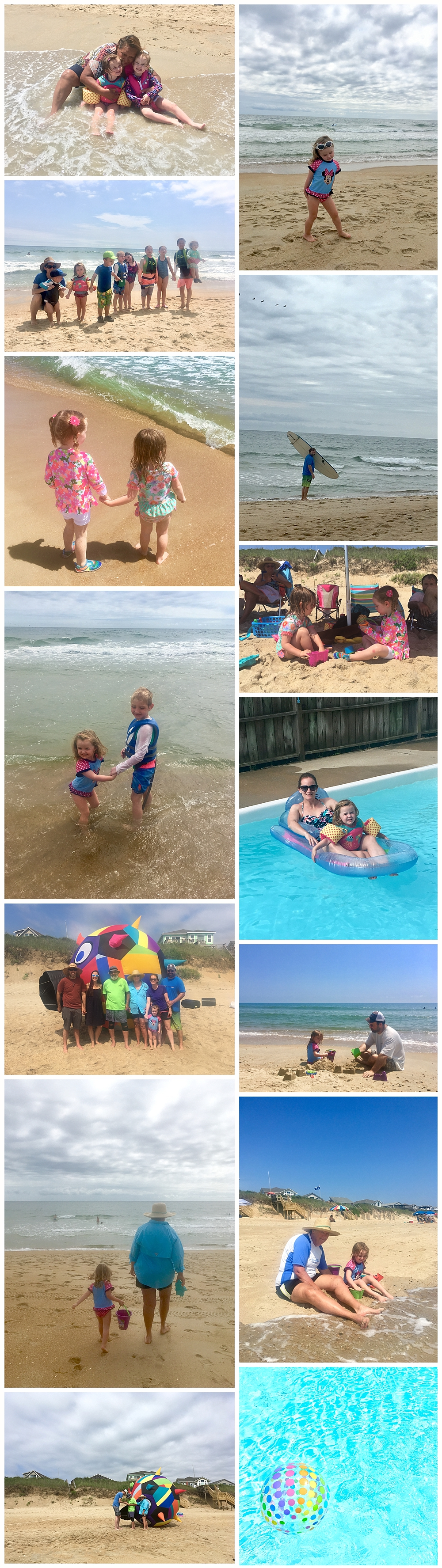family fun at the beach in Duck, NC