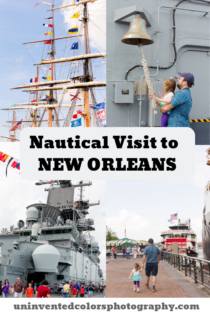 Tall Ships and Navy Ship in New Orleans - family travel blog