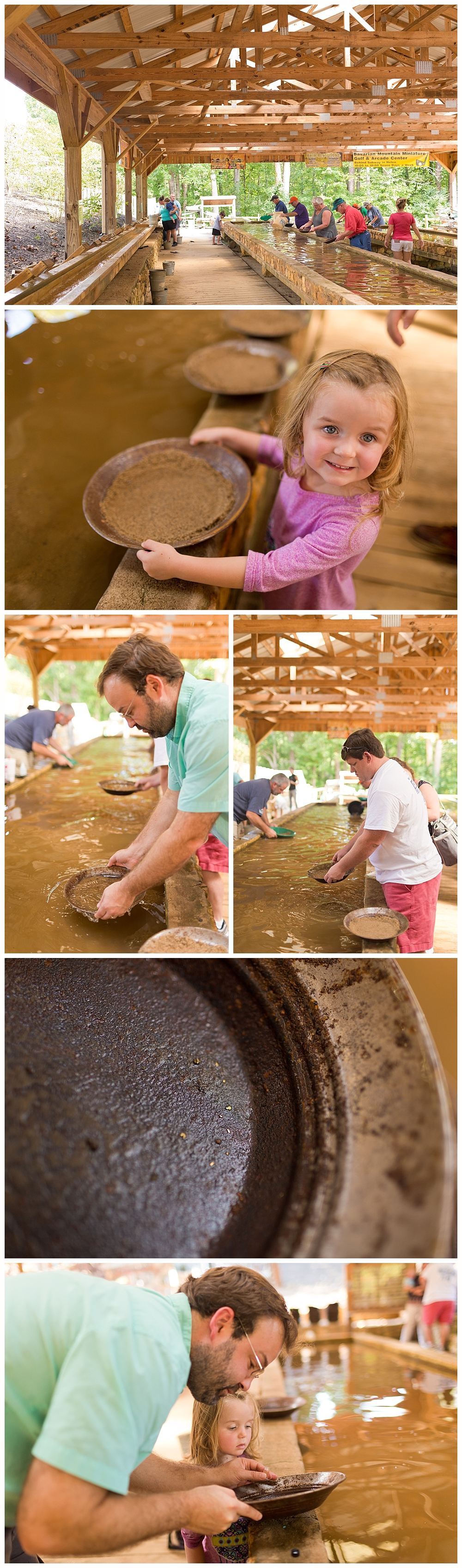 panning for gold at Crisson Gold Mine in Dahlonega, Georgia - family trip to North Georgia
